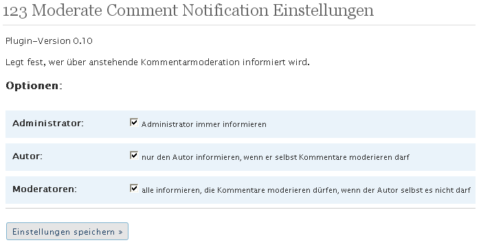 Plugin 123 Moderate Comment Notification