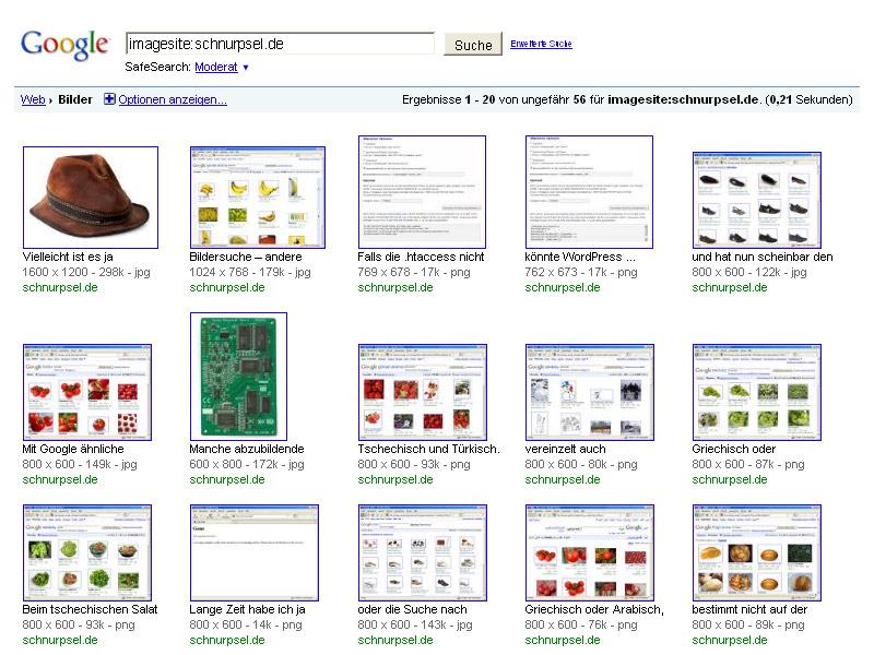 Google Bildersuche – Imagesite:schnurpsel.de