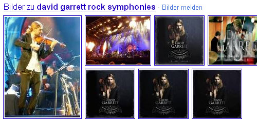 Google-Bildersuche Magazin-Layout: David Garrett (rein)