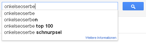 OnkelSeosErbe mit Google-Suggest