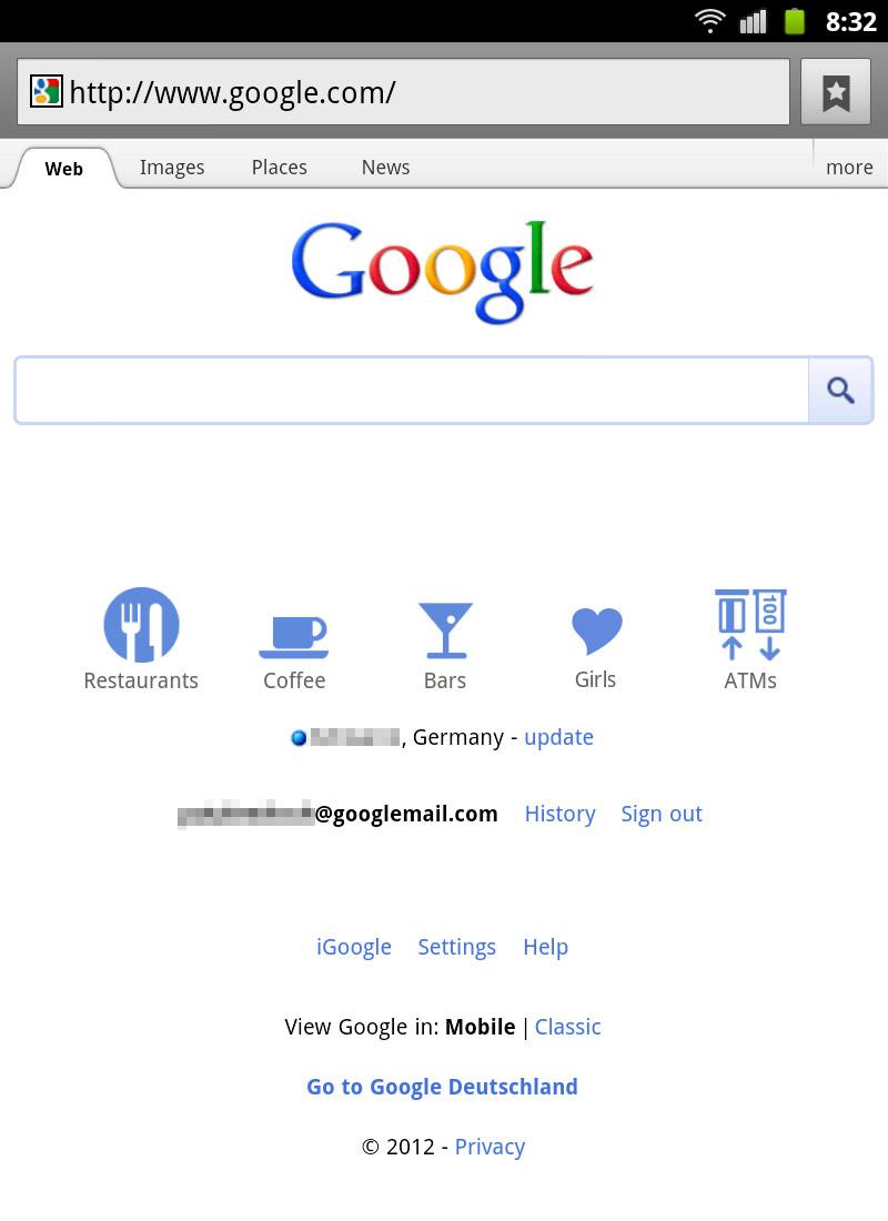 google dating de