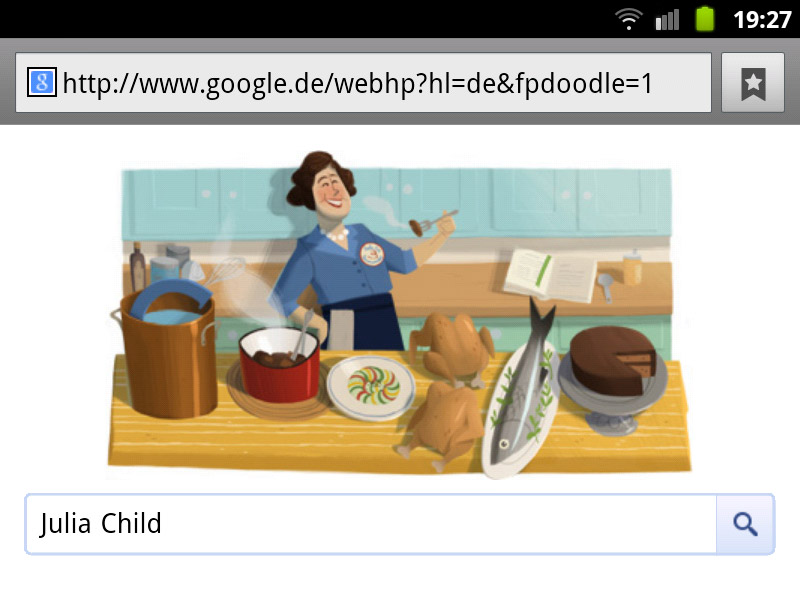 Julia Child Google-Doodle