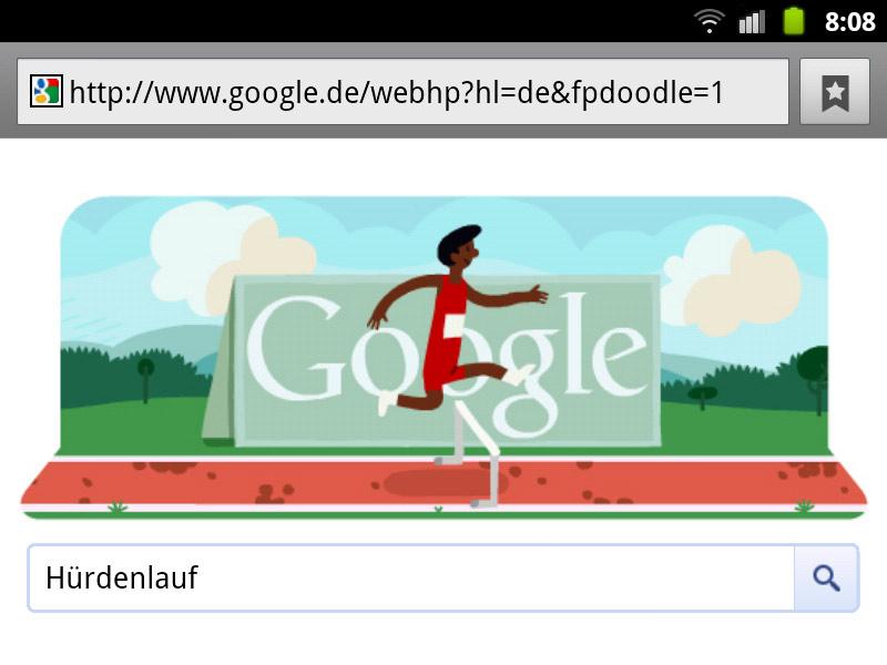 google-doodle london 2012 hürdenlauf olympia