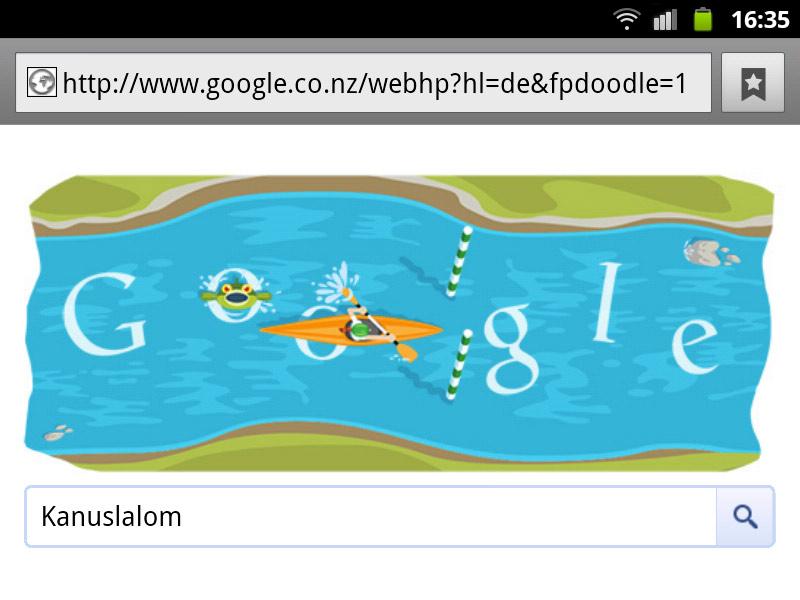 google-doodle london 2012 kanuslalom olympia