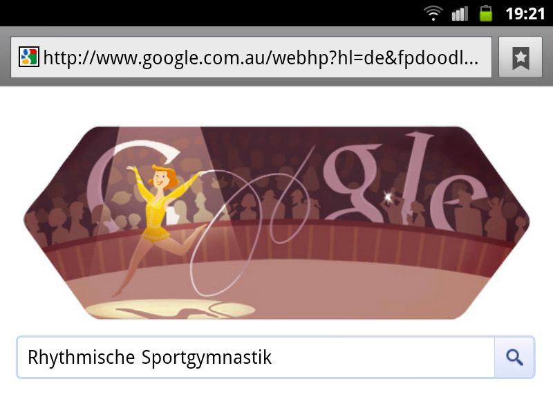 google-doodle london 2012 rhythmische sportgymnastik olympia