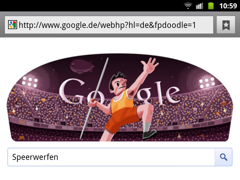 google-doodle london 2012 speerwerfen olympia