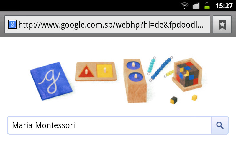 google-doodle maria montessori schule