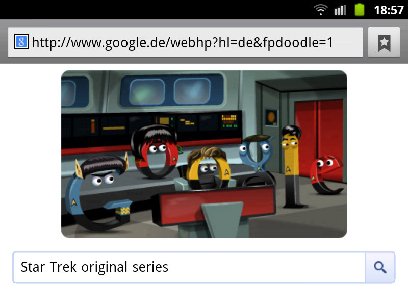 google-doodle star trek raumschiff enterprise