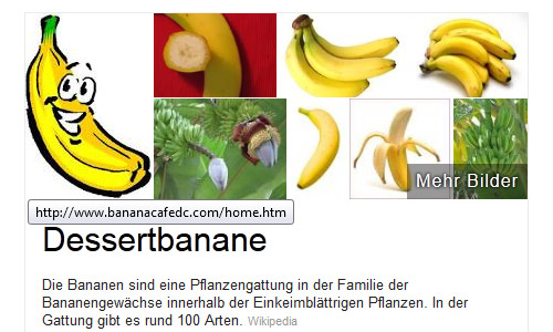 Knowledge-Graph Top-Bild: Bananen