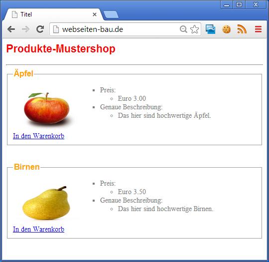 Screenshot der Website webseiten-bau.de
