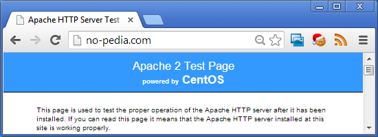 no-pedia.de - Apache Test Page