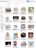 Google.com-Bildersuche: birthday cake