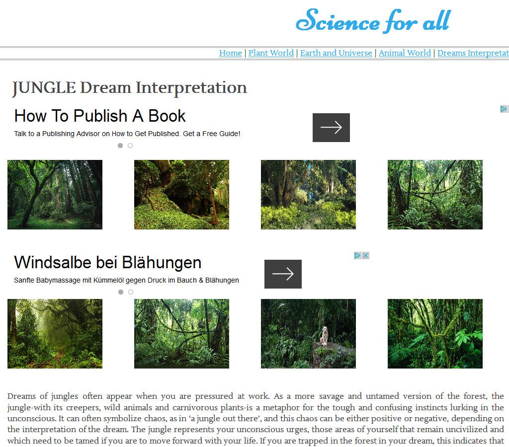 science-all.com - Traumdeutung und Bilderspam