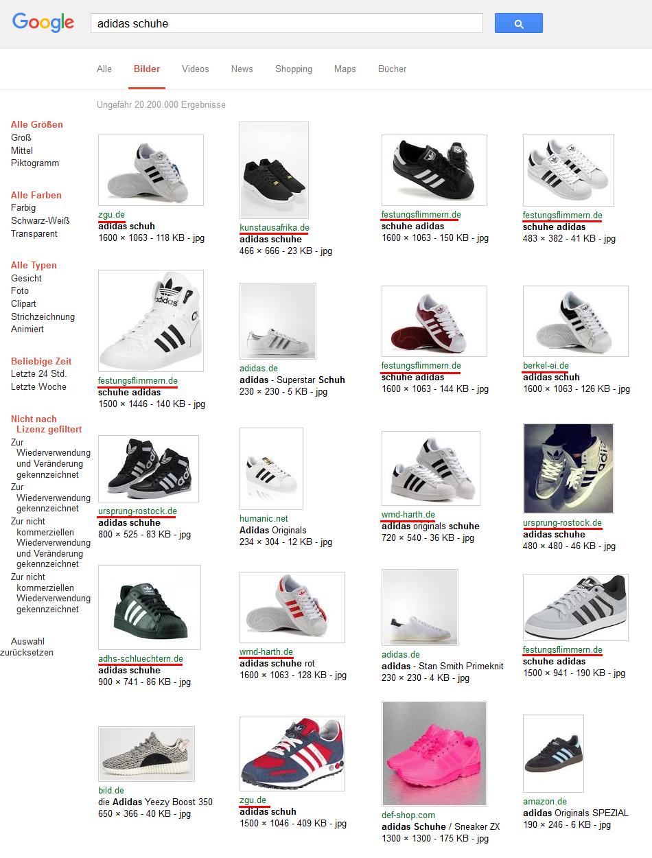 Google Bildersuche: adidas schuhe