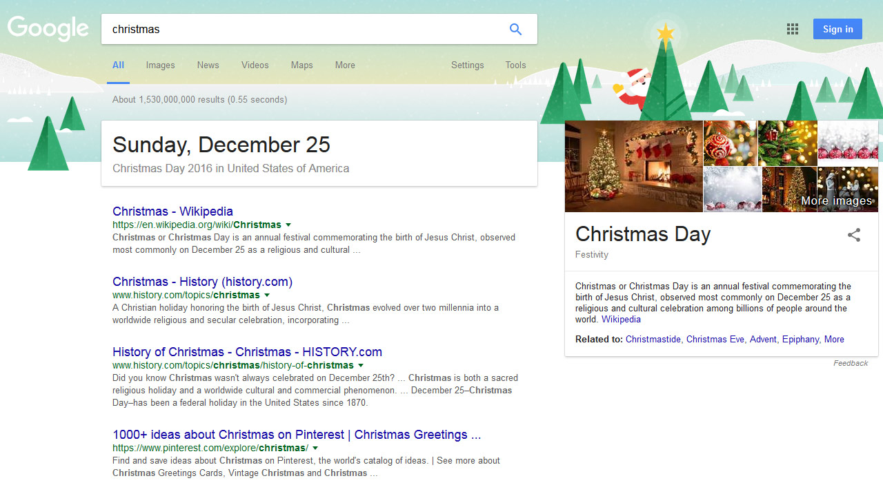 Google Easter-Egg Christmas 2016
