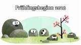 Frühlingsbeginn 2016 (Google-Doodle)