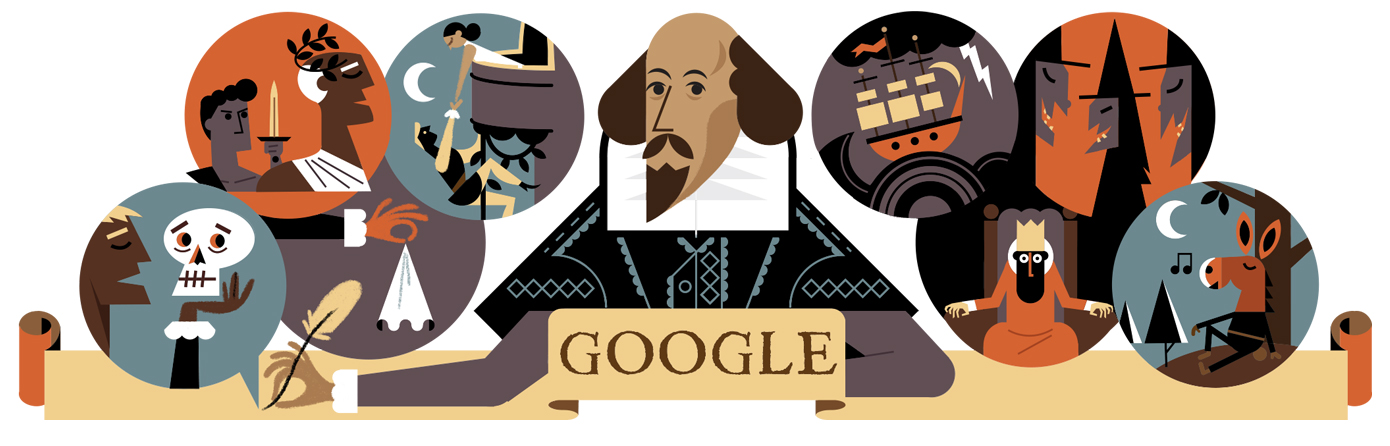 William Shakespeare (Google-Doodle)