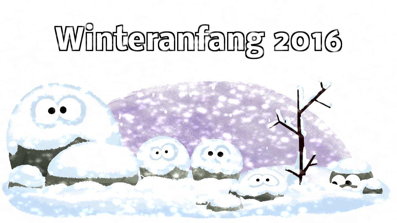Winteranfang 2016 (Google-Doodle)