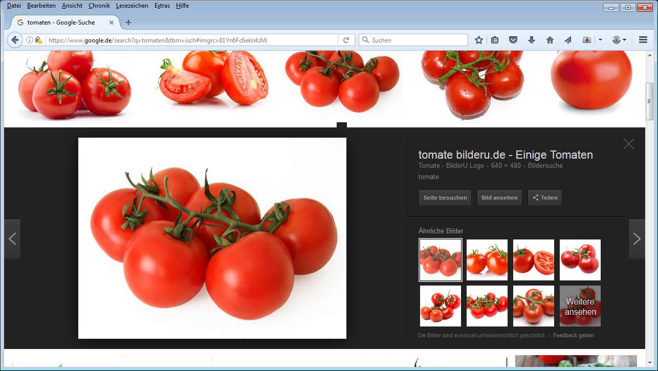 Google-Bildersuche: Neues Layout in DE
