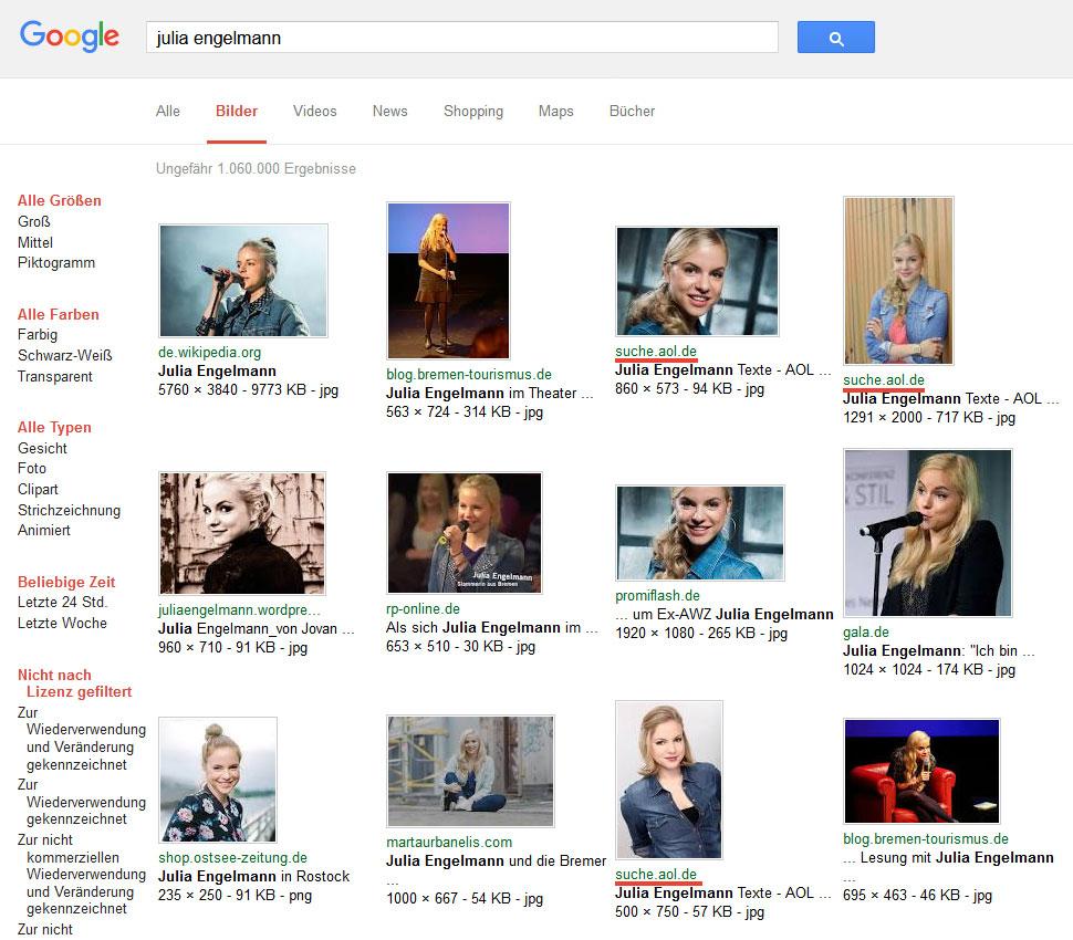 Google-Bildersuche: Julia Engelmann – suche.aol.de