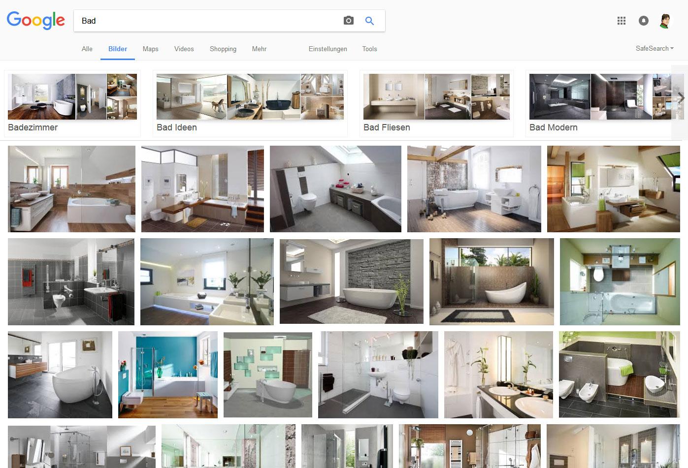 Google-Bildersuche: Bad