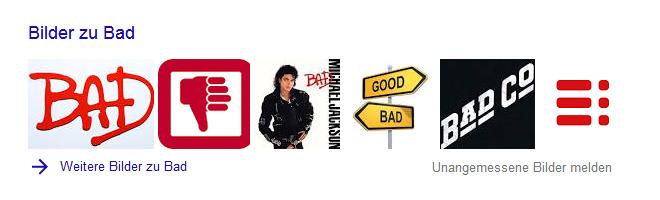 Google-Suche: bad (Bilder-Box)