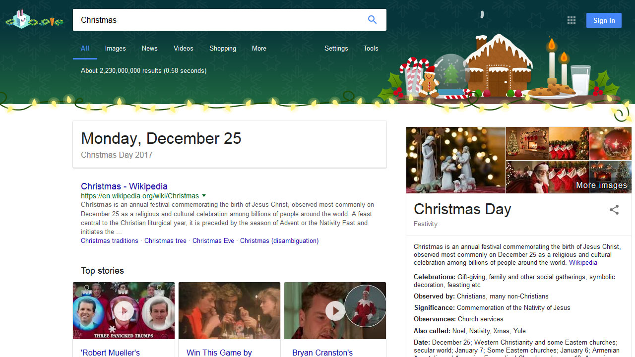 Google Easter-Egg Christmas 2017