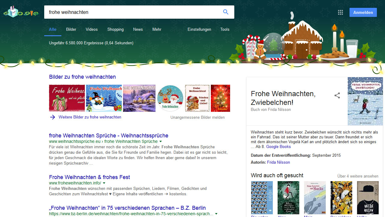 Google Easter-Egg Weihnachten 2017