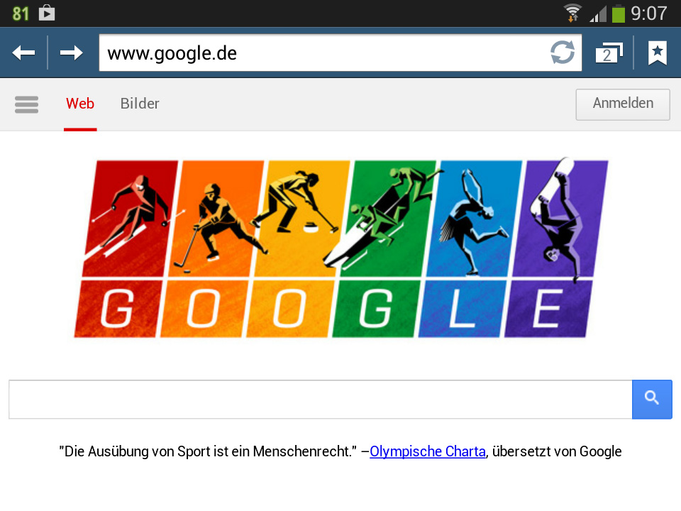 Olympische Charta (Google-Doodle)