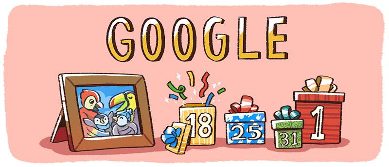Weihnachtsfeiertage 2017 (Google Doodle)