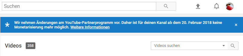 YouTube – Partnerprogramm Änderungen 2018