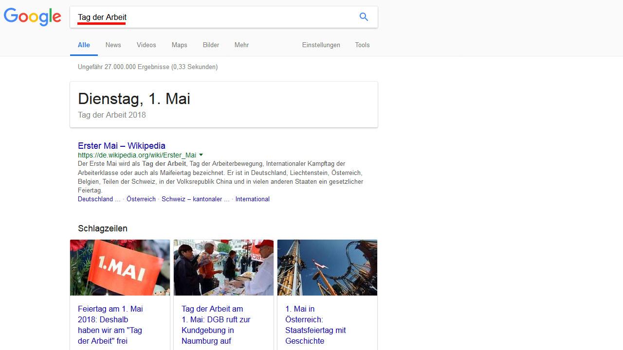 Tag der Arbeit – Google-Suche (groß)