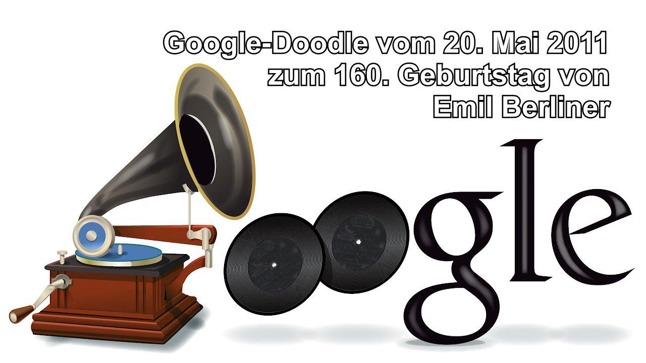 Google-Doodle für Emil-Berliner (2011)