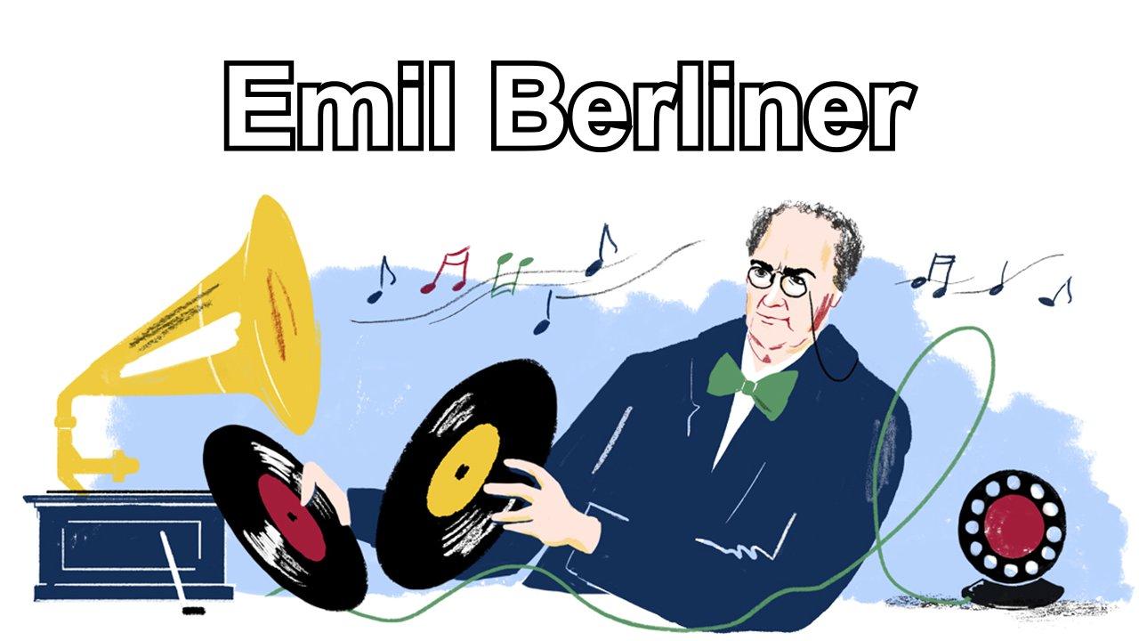 Google-Doodle für Emil-Berliner (2018)