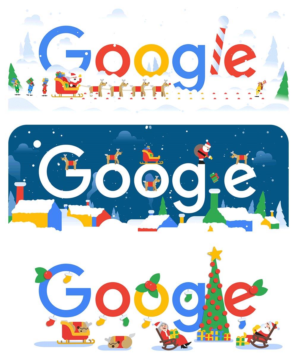 Google-Doodle Serie zu Weihnachten 2018