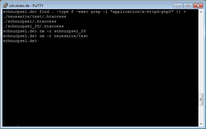 Strato-Webhosting: ssh