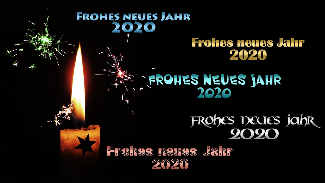 Frohes neues Jahr, Happy New Year 2020