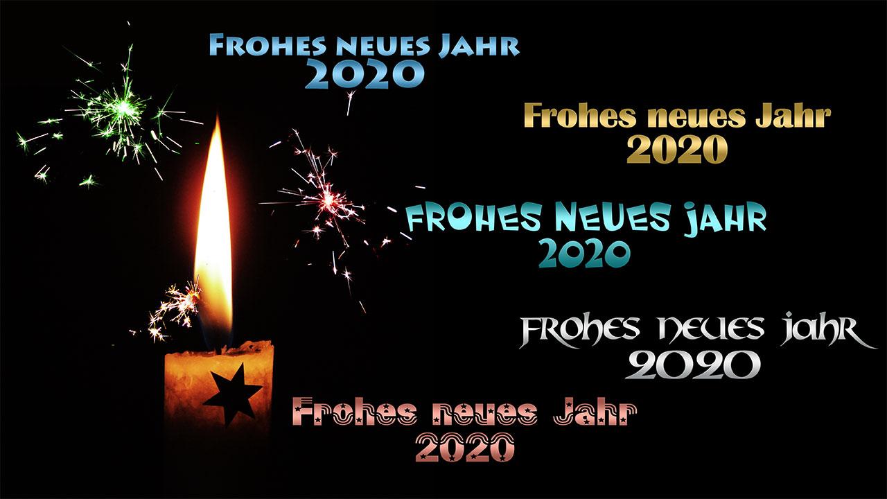 Frohes neues Jahr, Happy New Year 2020