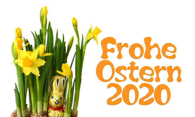 Frohe Ostern 2020 (orange)