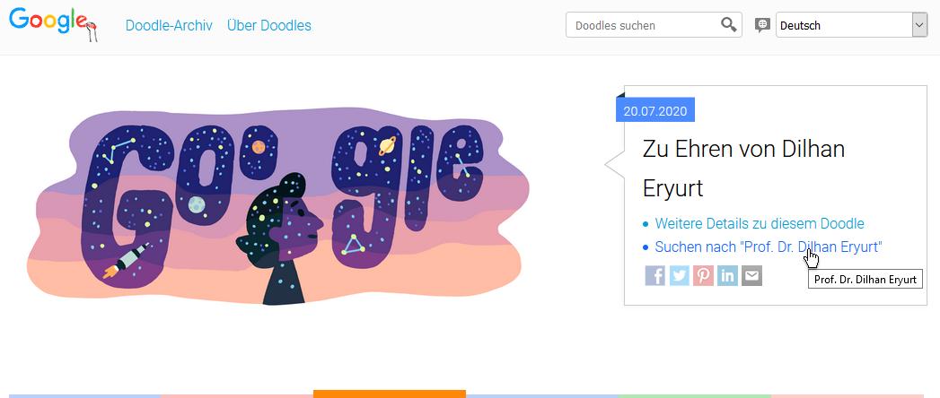 Google-Doodle zu Eheren von Dilhan Eryurt