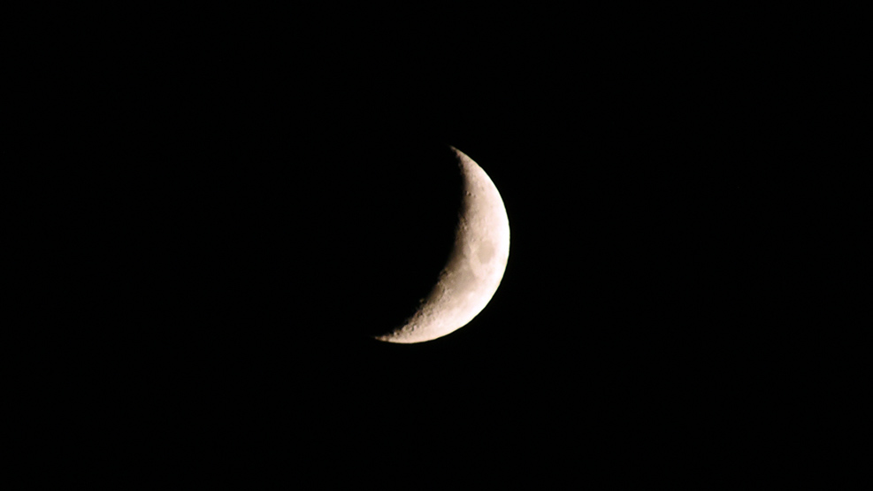 Mond im Dezember 2020 (Mondsichel)