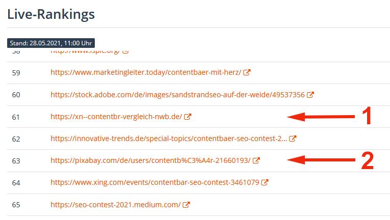 Contentbär Live-Ranking