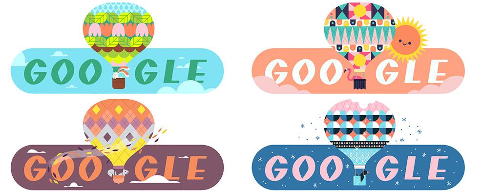 Jahreszeiten 2020 – Google Doodle