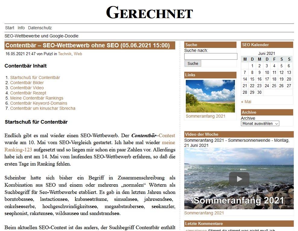 Contentbär bei gerech.net